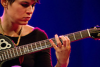 Kaki King performs at World Cafe Live, showing off one of her signature tapping techniques.