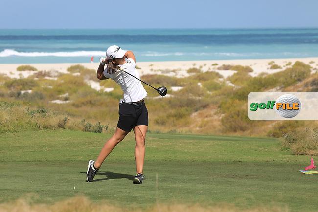 Karolin Lampert (GER) during the second round of the Fatima Bint Mubarak Ladies Open played at Saadiyat Beach Golf Club, Abu Dhabi, UAE. 11/01/2019<br /> Picture: Golffile | Phil Inglis<br /> <br /> All photo usage must carry mandatory copyright credit (&copy; Golffile | Phil Inglis)