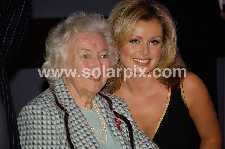 **ALL ROUND PICTURES FROM SOLARPIX.COM**.**WORLDWIDE SYNDICATION RIGHTS**.Dame Vera Lynn celebrated her 90th birthday on tuesday at the Imperial War Museum along with Baroness Thatcher, Kathrin Jenkins and the boys from the Chelsea Pensioners.This pic:DAME VERA LYNN AND KATHERIN JENKINS.JOB REF:3544-MSR    DATE:20_03_07 .**MUST CREDIT SOLARPIX.COM OR DOUBLE FEE WILL BE CHARGED* *UNDER NO CIRCUMSTANCES IS THIS IMAGE TO BE REPRODUCED FOR ANY ONLINE EDITION WITHOUT PRIOR PERMISSION*