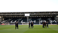 Hull City FC players on the pitch prior to the Sky Bet Championship match between Fulham and Hull City at Craven Cottage, London, England on 13 September 2017. Photo by Carlton Myrie.
