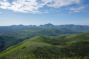 Mount Carrigain from the summit of Zeacliff during the summer months. Located along the Appalachian Trail in the White Mountains, New Hampshire USA.
