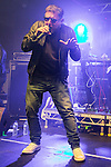 © Joel Goodman - 07973 332324 . 11/04/2015 . Manchester , UK . SHAUN RYDER . Black Grape perform a reunion gig in support of Bez's Reality Party . Photo credit : Joel Goodman