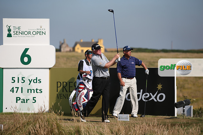 Ronan Rafferty (NIR)  during Round Two of the 2014 Senior Open Championship presented by Rolex from Royal Porthcawl Golf Club, Porthcawl, Wales. Picture:  David Lloyd / www.golffile.ie