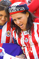 CD Chivas USA fans during a MLS playoff match. Chivas beat Houston 2-1 at The Home Depot Center in Carson, California, Sunday Oct. 22, 2006.