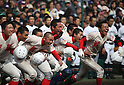 Chiben Gakuen team group, MARCH 31, 2016 - Baseball : The players of Chiben Gakuen celebrates after winning the Japanese High School Baseball Invitational Tournament final match Takamatsu Commercial 1-2 Chiben Gakuen at Hanshin Koshien Stadium in Nishinomiya, Hyogo, Japan. (Photo by BFP/AFLO)