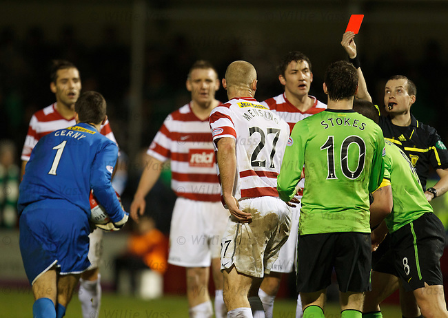 Simon Mensing sent off as Celtic get a late penalty