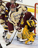 Tea Villila (UMD - 80), Dana Trivigno (BC - 8) -  - The visiting University of Minnesota Duluth Bulldogs defeated the Boston College Eagles 3-2 on Thursday, October 25, 2012, at Kelley Rink in Conte Forum in Chestnut Hill, Massachusetts.