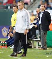 LA Galaxy head coach Bruce Arena and  Colorado Rapids head coach Gary Smith. LA Galaxy defeated the Colorado Rapids 3-2 at Home Depot Center stadium in Carson, California on Sunday October 12, 2008. Photo by Michael Janosz/isiphotos.com