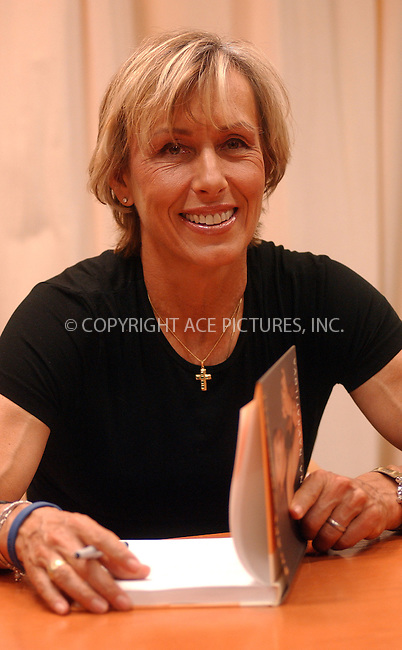 WWW.ACEPIXS.COM . . . . . ....NEW YORK, APRIL 4, 2006....Martina Navratilova signs copies of her book 'Shape of Your Life'.....Please byline: KRISTIN CALLAHAN - ACEPIXS.COM.. . . . . . ..Ace Pictures, Inc:  ..Philip Vaughan (212) 243-8787 or (646) 679 0430..e-mail: info@acepixs.com..web: http://www.acepixs.com