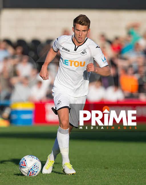 Tom Carroll of Swansea City during the 2017/18 Pre Season Friendly match between Barnet and Swansea City at The Hive, London, England on 12 July 2017. Photo by Andy Rowland.