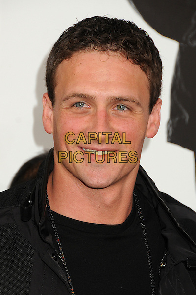 "Ryan Lochte.""The Expendables 2"" Los Angeles Premiere held at Grauman's Chinese Theatre, Los Angeles, California, USA..August 15th, 2012.headshot portrait black  .CAP/ADM/BP.©Byron Purvis/AdMedia/Capital Pictures."