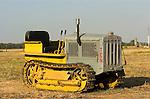 Bev Davis' Caterpillar Ten tractor, c1931; transition paint scheme--battleship gray to Caterpillar yellow, Calif.