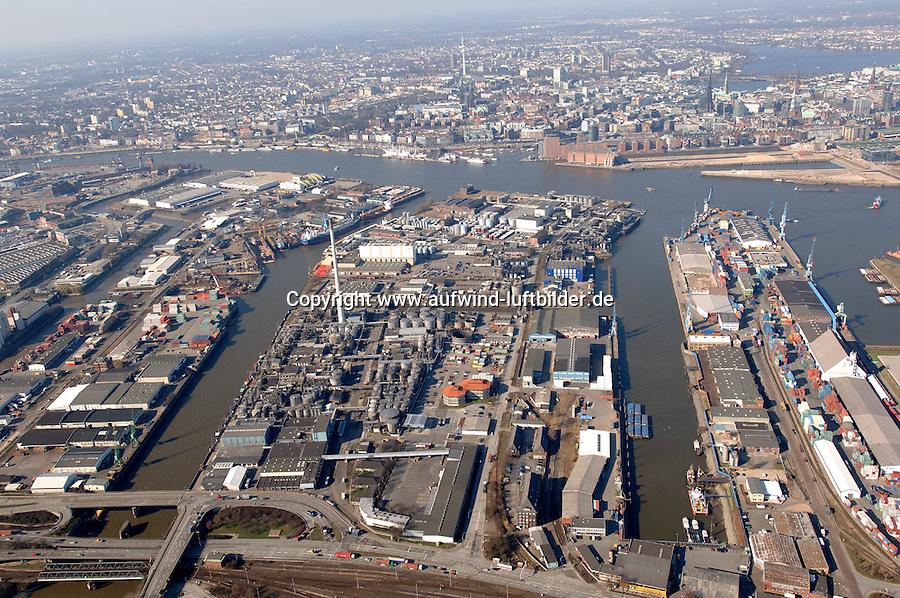 Deutschland, Hamburg, Hafen, Raffinerie, DEA, Shell, Reiherstieg, Steinwerderhafen, Querkanal,