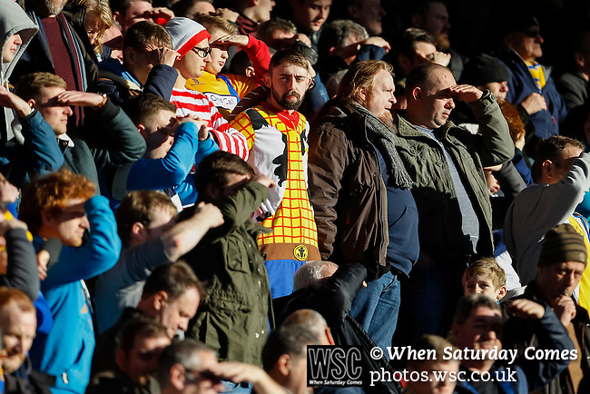 Notts County 0 Mansfield Town 0, 14/01/2017. Meadow Lane, League Two. Mansfield fan dressed as Woody from Toy Story. Photo by Paul Thompson.
