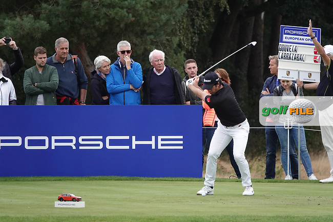 Ricardo Gouveia (POR) during the third round of the Porsche European Open , Green Eagle Golf Club, Hamburg, Germany. 07/09/2019<br /> Picture: Golffile | Phil Inglis<br /> <br /> <br /> All photo usage must carry mandatory copyright credit (© Golffile | Phil Inglis)