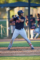 AZL Indians Blue Cristopher Cespedes (17) at bat during an Arizona League game against the AZL White Sox on July 2, 2019 at Camelback Ranch in Glendale, Arizona. The AZL Indians Blue defeated the AZL White Sox 10-8. (Zachary Lucy/Four Seam Images)