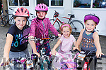 Attending the Ardfert Kids Cycle at the School on Sunday morning. L-r, Clodagh Flaherty, Ally Russell, Keely Flaherty and Elsie Dowling.