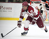 Ryan McGregor (Harvard - 20) - The Harvard University Crimson defeated the Princeton University Tigers 3-2 on Friday, January 31, 2014, at the Bright-Landry Hockey Center in Cambridge, Massachusetts.