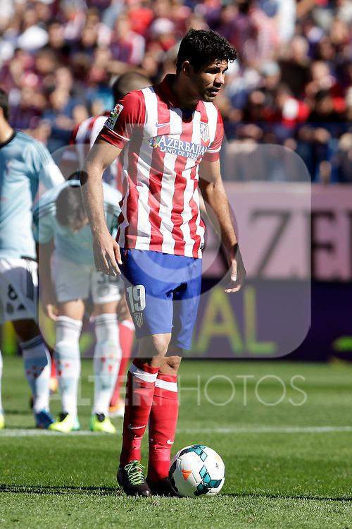 Atletico de Madrid´s Diego Costa during La Liga 2013/14 match. October 06, 2013. (ALTERPHOTOS/Victor Blanco)