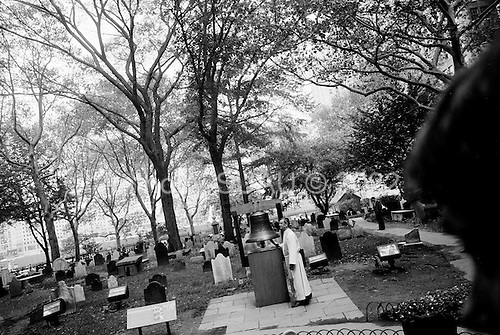 New York, New York<br /> September 11, 2008<br /> <br /> People from all over the world come to the site where the World Trade Centers destroyed by hijacked airplanes 7 years ago.<br /> <br /> Services are held and families of the victims who gather to pay respects to their lost loved ones.