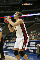 20 March 2006: Krista Rappahahn during Stanford's 88-70 win over Florida State in the second round of the NCAA Women's Basketball championships at the Pepsi Center in Denver, CO.