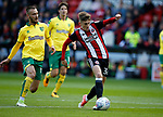 David Brooks of Sheffield Utd takes a shot during the Championship match at Bramall Lane Stadium, Sheffield. Picture date 16th September 2017. Picture credit should read: Simon Bellis/Sportimage