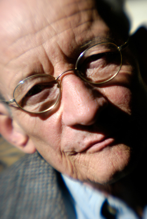 Poet Laureate Ted Kooser at the Capitol Suites hotel lounge.