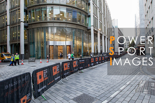 Branding before Bloomberg Square Mile Relay in London, United Kingdom. Photo by Ian Roman / Power Sport Images