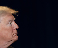 United States President Donald J. Trump attends the 2019 National Prayer Breakfast at the Washington Hilton Hotel in Washington, DC on Thursday, February 7, 2019.<br /> CAP/MPI/RS<br /> ©RS/MPI/Capital Pictures