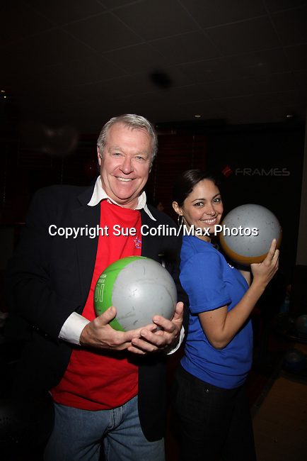 One Life To Live's Host Jerry verDorn and Jessica Leccia bowl at The Seventh Annual Daytime Stars and Strikes benefitting The American Cancer Society hosted by Elizabeth Keifer and Jerry VerDorn with actors from One Life To Live, All My Children, As The World Turns and Guiding Light on October 9, 2010 in New York City, New York. (Photo by Sue Coflin/Max Photos)