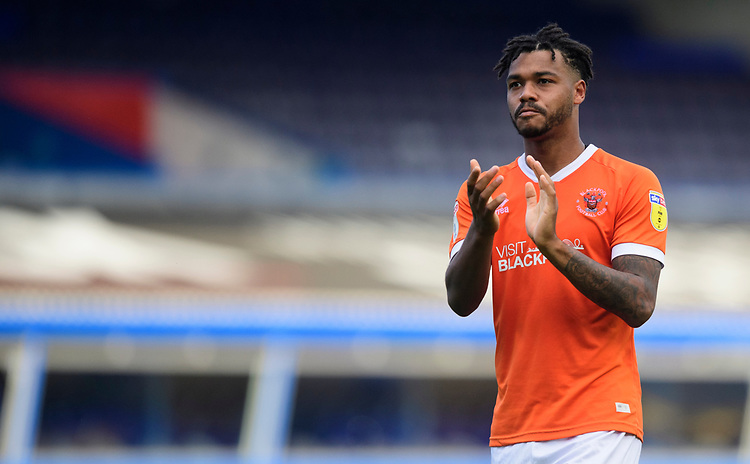 Blackpool's Joe Nuttall applauds the fans at the final whistle<br /> <br /> Photographer Chris Vaughan/CameraSport<br /> <br /> The EFL Sky Bet League One - Coventry City v Blackpool - Saturday 7th September 2019 - St Andrew's - Birmingham<br /> <br /> World Copyright © 2019 CameraSport. All rights reserved. 43 Linden Ave. Countesthorpe. Leicester. England. LE8 5PG - Tel: +44 (0) 116 277 4147 - admin@camerasport.com - www.camerasport.com