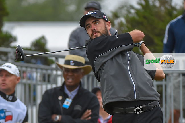 Troy Merritt (USA) watches his tee shot on 10 during Round 3 of the Valero Texas Open, AT&T Oaks Course, TPC San Antonio, San Antonio, Texas, USA. 4/21/2018.<br /> Picture: Golffile | Ken Murray<br /> <br /> <br /> All photo usage must carry mandatory copyright credit (© Golffile | Ken Murray)