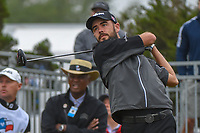Troy Merritt (USA) watches his tee shot on 10 during Round 3 of the Valero Texas Open, AT&amp;T Oaks Course, TPC San Antonio, San Antonio, Texas, USA. 4/21/2018.<br /> Picture: Golffile | Ken Murray<br /> <br /> <br /> All photo usage must carry mandatory copyright credit (&copy; Golffile | Ken Murray)