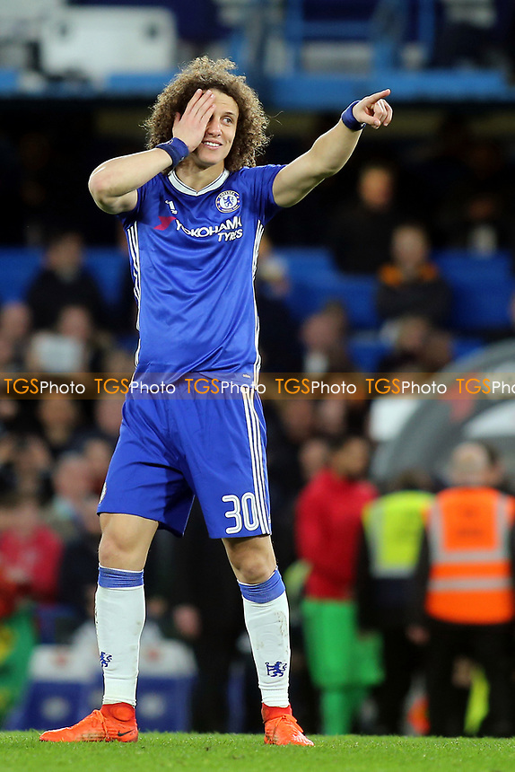 David Luiz of Chelsea during Chelsea vs Manchester United, Emirates FA Cup Football at Stamford Bridge on 13th March 2017