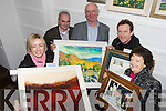 Kerry artist who are donating their work for a draw to raise funds for Haiti, pictured at the Maineframe Gallery on Tuesday from left, Juilet McElligott, Ger Gleasure, Michael O'Regan, Donal Stack and Joan O'Regan.