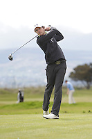 Henry Tomlinson (ENG) on the 3rd tee during Round 3 of The Irish Amateur Open Championship in The Royal Dublin Golf Club on Saturday 10th May 2014.<br /> Picture:  Thos Caffrey / www.golffile.ie
