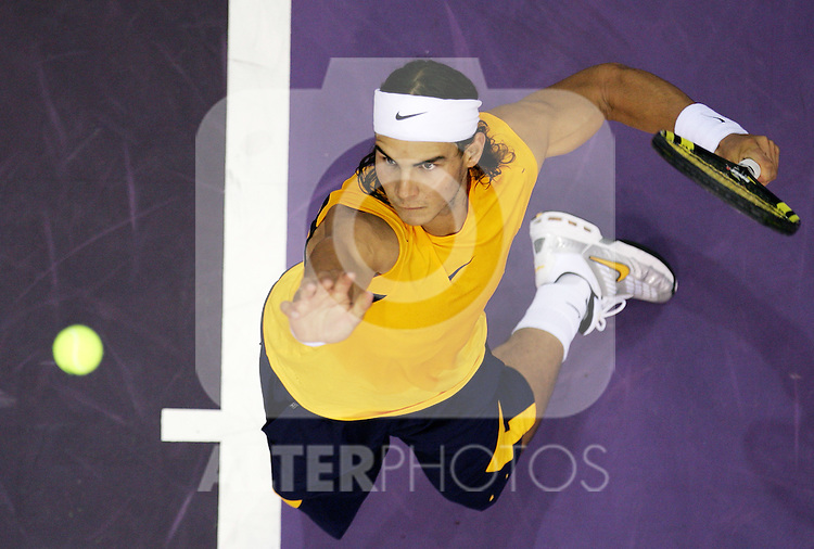 Spain's Rafael Nadal during his Madrid Masters Series tennis tournament match against United States' Mardy Fish at Madrid Arena, Wednesday 18 October, 2006. (ALTERPHOTOS/Alvaro Hernandez).