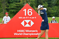 SINGAPORE - MARCH 02: Jodi Ewart Shadoff of England on the 16th tee during the third round of the HSBC Women's World Championship 2019 at Sentosa Golf Club - Tanjong Course, Singapore on March 02, 2019.<br /> .<br /> .<br /> .<br /> (Photo by: Naratip Golf Srisupab/SEALs Sports Images)<br /> .<br /> Any image use must include a mandatory credit line adjacent to the content which should read: Naratip Golf Srisupab/SEALs Sports Images