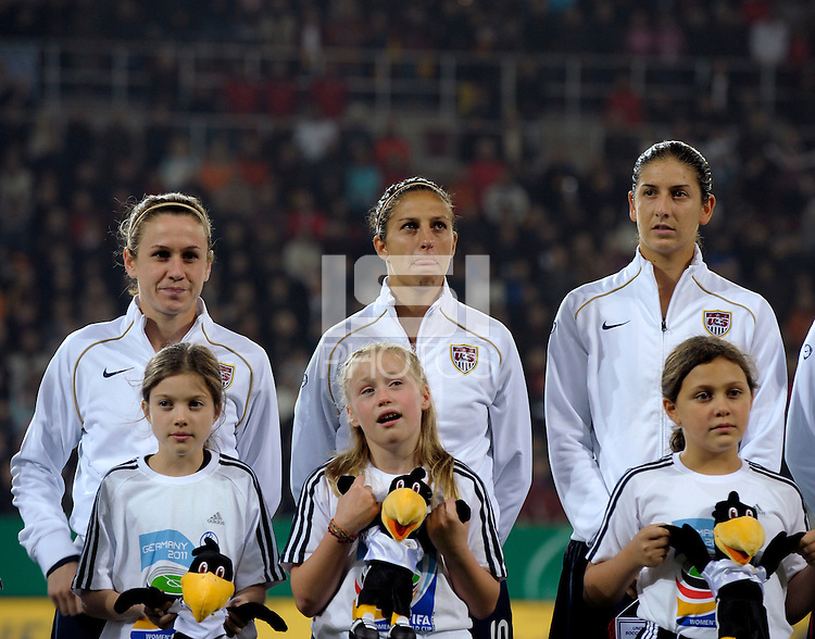 USWNT. US Women's National Team defeated Germany 1-0 at Impuls Arena in Augsburg, Germany on October 29, 2009.