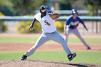Chicago White Sox pitcher Robinson Leyer (30) during an Instructional League game against the Los Angeles Dodgers on October 12, 2013 at Camelback Ranch Complex in Glendale, Arizona.  (Mike Janes/Four Seam Images)