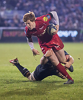 Scarlets&rsquo; Rhys Patchell in action during todays match<br /> <br /> Photographer Bob Bradford/CameraSport<br /> <br /> European Champions Cup Round 5 - Bath Rugby v Scarlets - Friday 12th January 2018 - The Recreation Ground - Bath<br /> <br /> World Copyright &copy; 2018 CameraSport. All rights reserved. 43 Linden Ave. Countesthorpe. Leicester. England. LE8 5PG - Tel: +44 (0) 116 277 4147 - admin@camerasport.com - www.camerasport.com