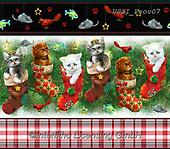 GIORDANO, GIFT WRAPS, GESCHENKPAPIER, PAPEL DE REGALO, Christmas Santa, Snowman, Weihnachtsmänner, Schneemänner, Papá Noel, muñecos de nieve, paintings+++++Fireside Kitten Border Stripe,USGIPROV07,#gp#,#x# ,cat,cats