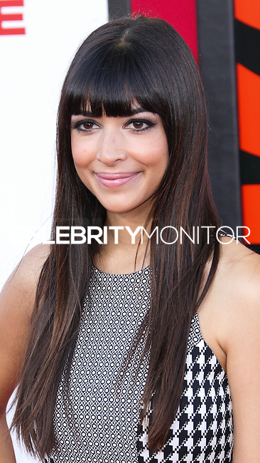 WESTWOOD, LOS ANGELES, CA, USA - JULY 10: Actress Hannah Simone arrives at the World Premiere Of Columbia Pictures' 'Sex Tape' held at the Regency Village Theatre on July 10, 2014 in Westwood, Los Angeles, California, United States. (Photo by Xavier Collin/Celebrity Monitor)