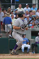 Winston-Salem Dash infielder Dan Black #40 at bat duing a game against the Myrtle Beach Pelicans at Tickerreturn.com Field at Pelicans Ballpark on July 11, 2012 in Myrtle Beach, South Carolina. Myrtle Beach defeated Winston Salem by the score of 7-1. (Robert Gurganus/Four Seam Images)