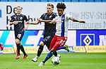 v.l. Julius Biada, Jeremy Dudziak (HSV)<br />Hamburg, 28.06.2020, Fussball 2. Bundesliga, Hamburger SV - SV Sandhausen<br />Foto: VWitters/Witters/Pool//via nordphoto<br /> DFL REGULATIONS PROHIBIT ANY USE OF PHOTOGRAPHS AS IMAGE SEQUENCES AND OR QUASI VIDEO<br />EDITORIAL USE ONLY<br />NATIONAL AND INTERNATIONAL NEWS AGENCIES OUT