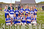 Pictured Killury National School, Causeway front l-r  Jack O'Hara, Ciaran Sheehan, Dylan  Legg, Jack O'Mahony, Adam Egan, Ally Mulvihill, back l-r Gavin O'Donoghue, Cillian Quilter, Dean McElligott, Alesha Legg, Aisling Sayers, Emma Dillane, Paddy Welch and  Edel Burke Teacher at the North Kerry Primary schools Hurling Blitz at Ballyheigue on Thursday