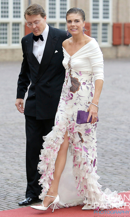 Prince Constantijn and Princess Laurentien of Holland arrive  for a Reception at Het Loo Palace in Apeldoorn, to celebrate the 40th Birthday of Crown Prince Willem Alexander, The Prince turned forty in April earlier this year.