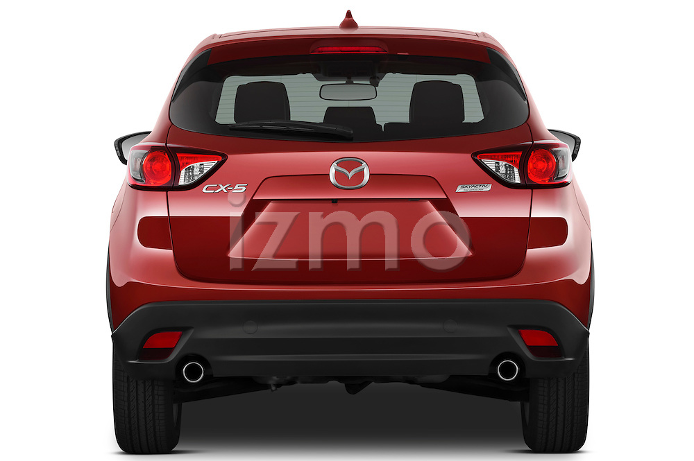 Straight rear view of a 2013 Mazda CX-5 GT
