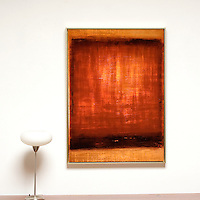 "Unrein: Untitled #2 (Burnt Sienna) , Digital Print, Image Dims. 44.25"" x 32"", Framed Dims. 45.25"" x 33"""