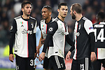 Rodrigo Bentancur, Danilo, Cristiano Ronaldo and Gonzalo Higuain of Juventus during the UEFA Champions League match at Juventus Stadium, Turin. Picture date: 26th November 2019. Picture credit should read: Jonathan Moscrop/Sportimage
